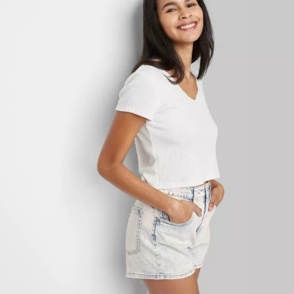 Wild Fable High-Rise Mom Jean Shorts~6/28
